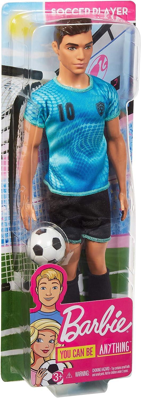 Barbie Careers Ken Soccer Player Doll Mattel FXP02