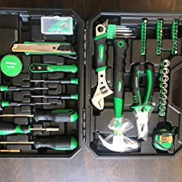 Amazon Com Customer Reviews Tool Kit For Home Metakoo 100 Pieces Home Repair Basic Tool Kit Sets Plating Surface Cr V General Household Tool With Plastic Toolbox Storage Case Essential Tools Housewarming Gift Mts01h