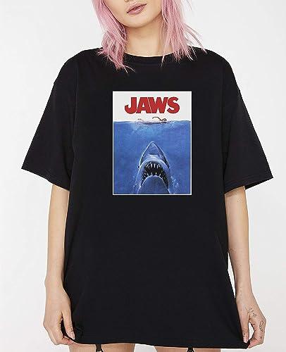 Jaws Aged Retro 70s T shirt