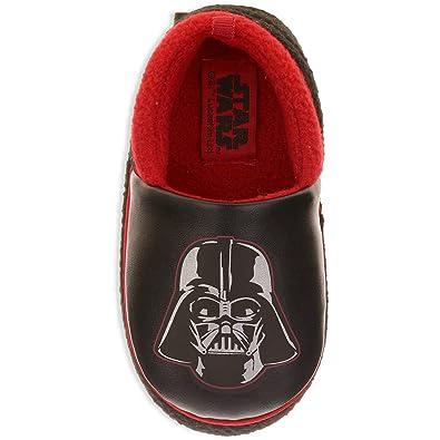 0895f6adabf985 Star Wars Darth Vader Boy s Slippers A-Line Slippers Black (7-8 M