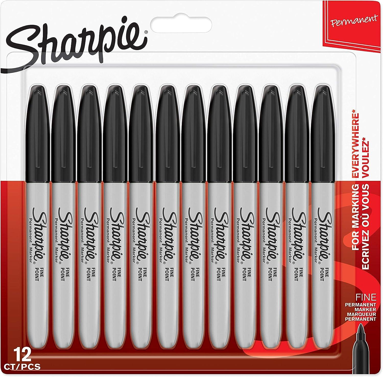 Sharpie Permanentmarker mit feiner Spitze schwarz 1/St/ück