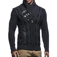 LEIF NELSON Herren Jacke Pullover Strickjacke Hoodie Sweatjacke Freizeitjacke Winterjacke Zipper Sweatshirt LN5305