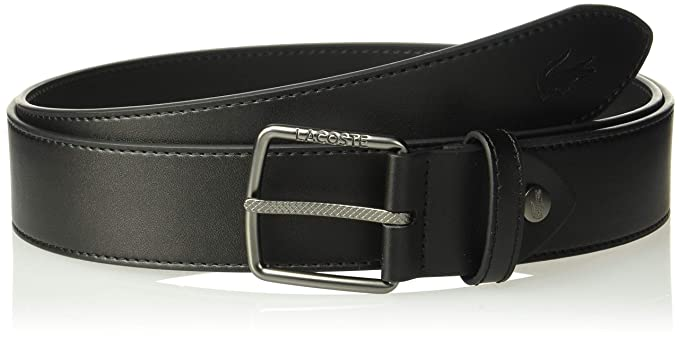 eef39a24244bf8 Lacoste Men s Classic Logo Embossed Buckle Belt at Amazon Men s ...