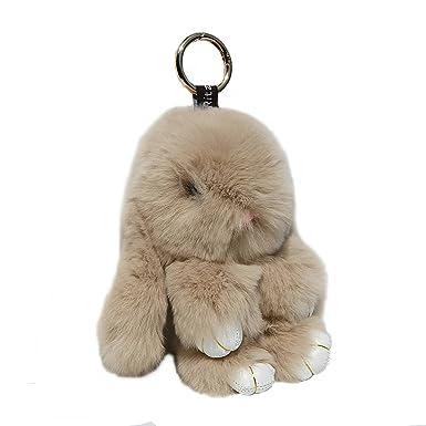 RitzyBay Handmade Rex Rabbit Fur Bunny Keychain with RitzyBay GiftBox  (X-Small b81e4821b8