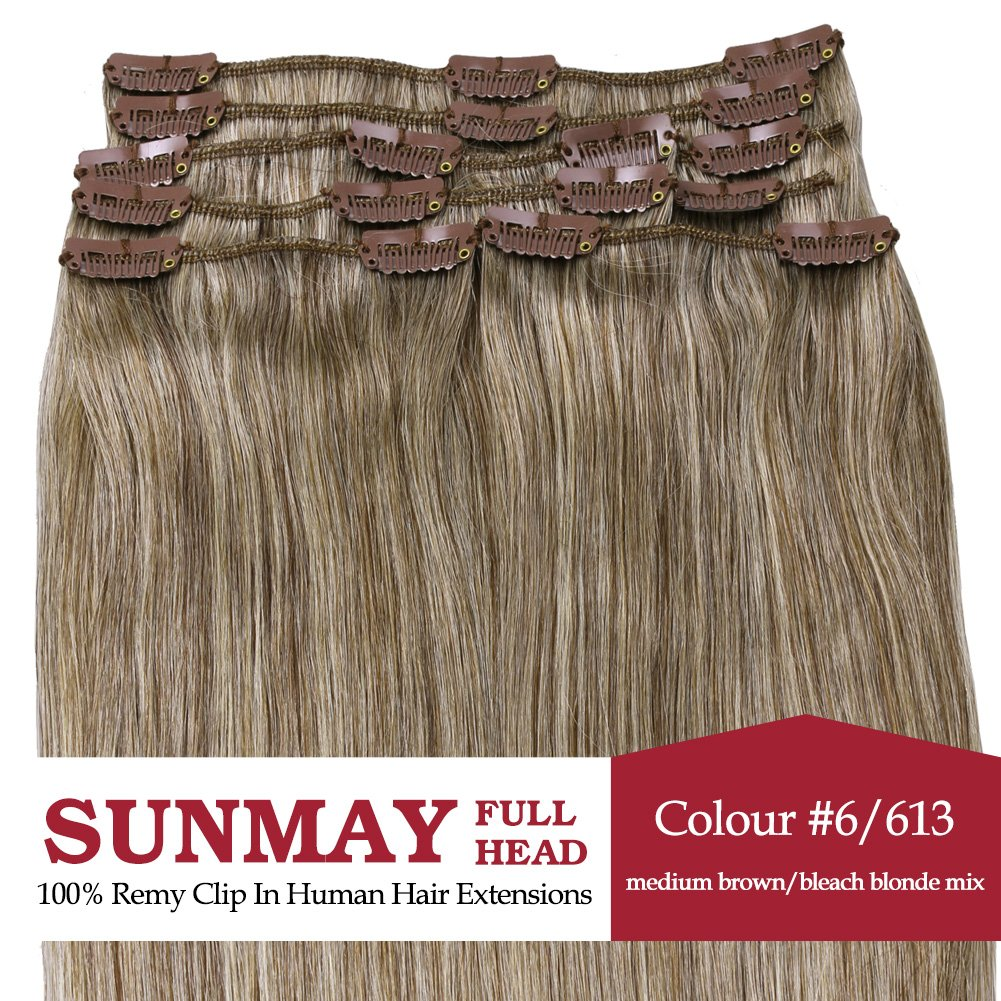 Amazon sunmay 20 inch color 6613 light blonde tape in amazon sunmay 20 inch color 6613 light blonde tape in premium remy human hair extensions8 pieces set 50g weight straight women beauty beauty pmusecretfo Gallery