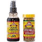 Braggs Organic Sprinkle Seasoning Braggs Liquid Aminos Bundle Bragg Sprinkle Herb And Spice Seasoning 1.5 oz Bragg Liquid Ami