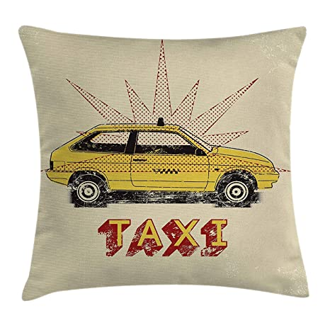 VVIANS Retro Throw Pillow Cushion Cover, Pop Art Style Old ...