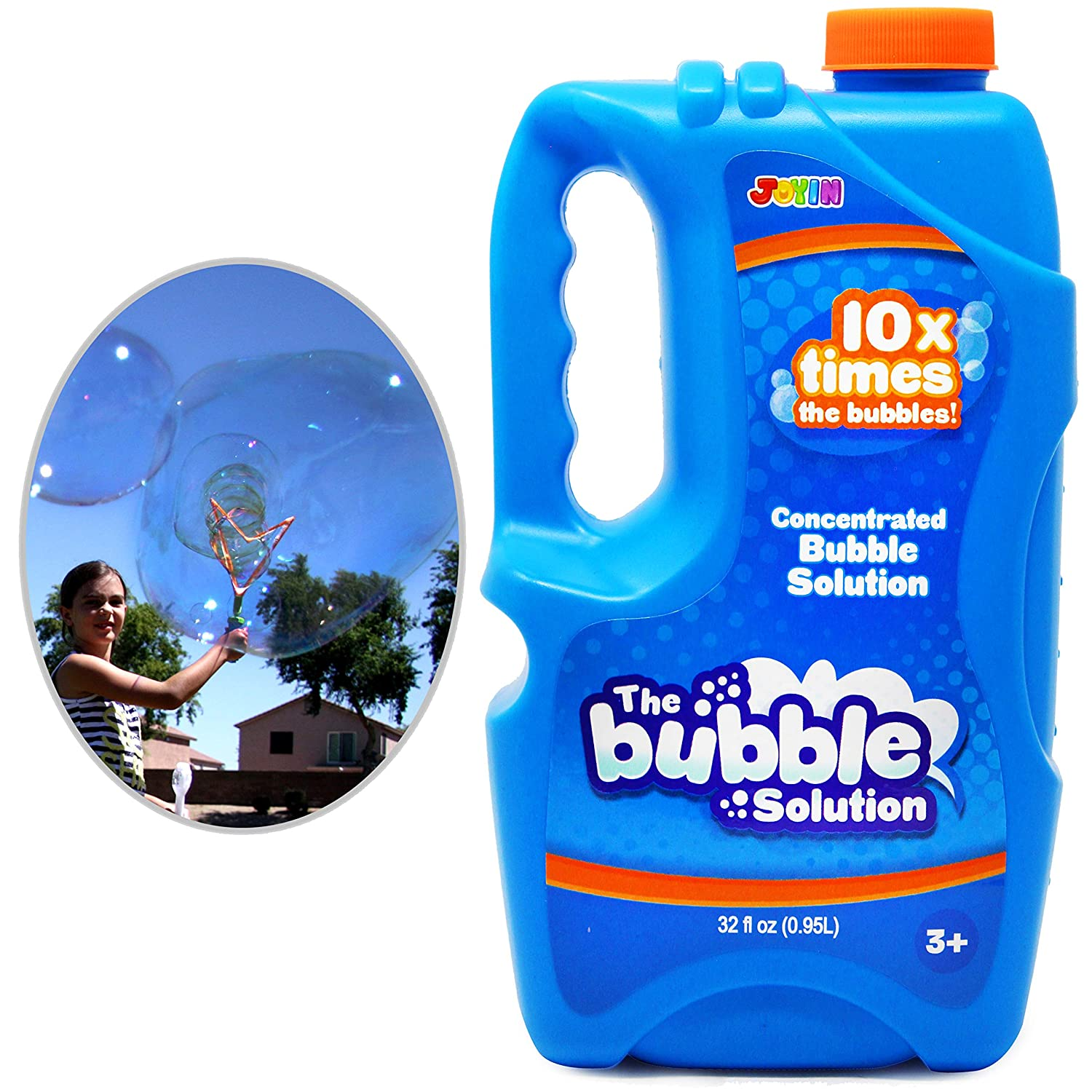 Joyin Toy Bubble Solution Refill (up to 2 5 Gallon) BIG Bubble Solution 32  Ounce CONCENTRATED Solution for Bubble Machine