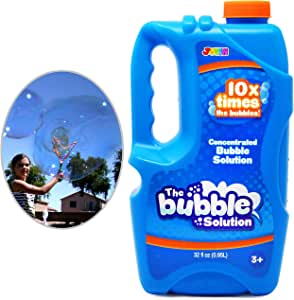 Joyin Toy Bubble Solution Refill (up to 2.5 Gallon) BIG Bubble Solution 32 Ounce CONCENTRATED Solution for Bubble Machine, Easter