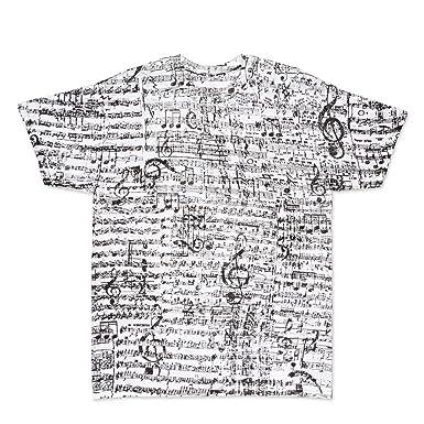 10bbba446f ComputerGear Music Notes T Shirt Musical Score Adult Cotton Men Women Tee, M