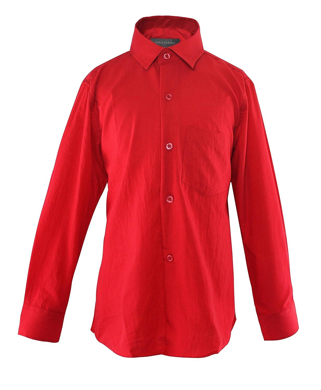 Luca Gabriel Toddler Boys Long Sleeve Formal Button Down Dress Shirt /& Tie Set LG-ST899
