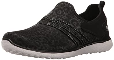 Skechers Sport Women's Microburst Underwraps Fashion Sneaker, Black/White,  ...