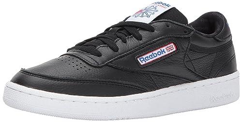 3cbf6861c286 Reebok Classic Club C 85 SO Fashion Sneakers White Grey Blue  Amazon ...
