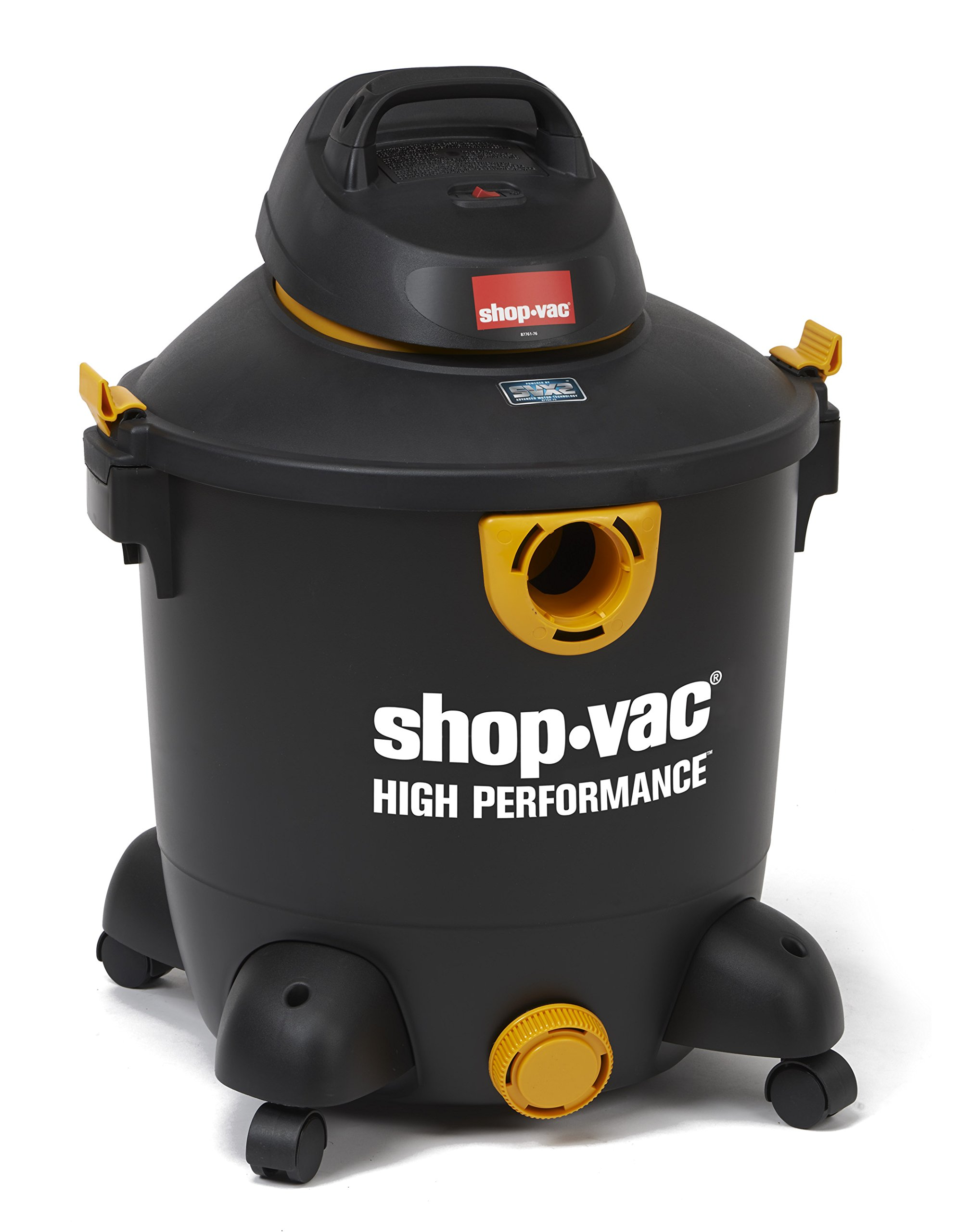 Shop-Vac 5987300 12 gallon 5.5 Peak HP SVX2 High Performance Series Wet Dry Vacuum, Black/Yellow