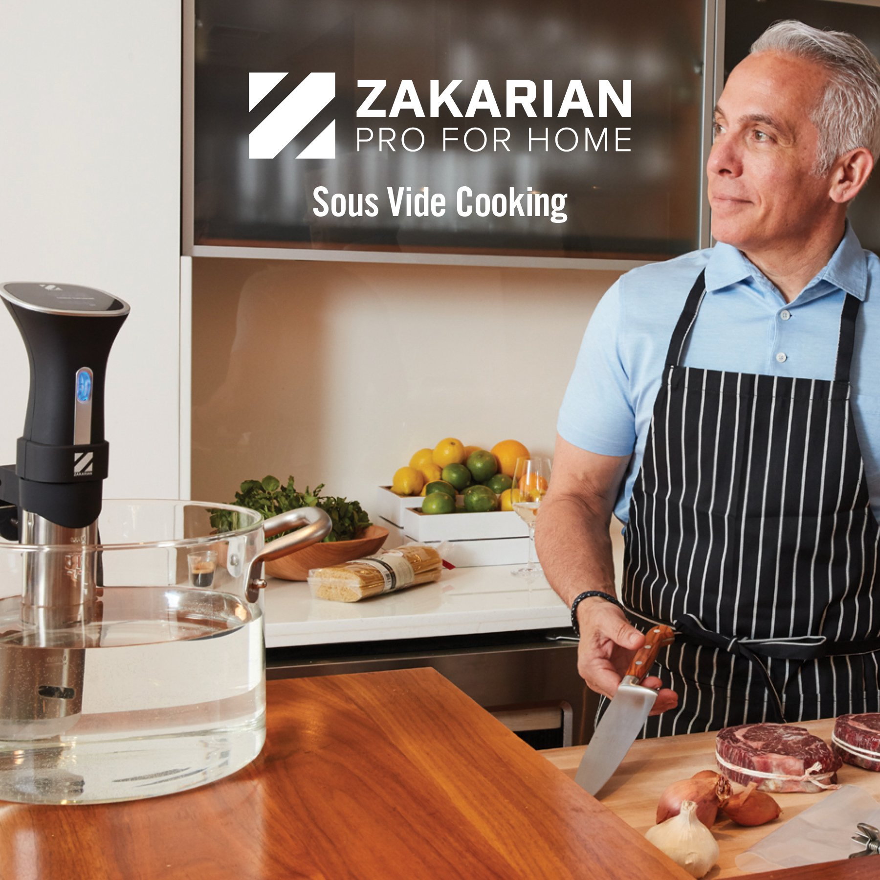 Zakarian Pro for Home Sous Vide, Immersion Circulator, Precise Cooker by Chef Geoffrey Zakarian by Zakarian (Image #2)