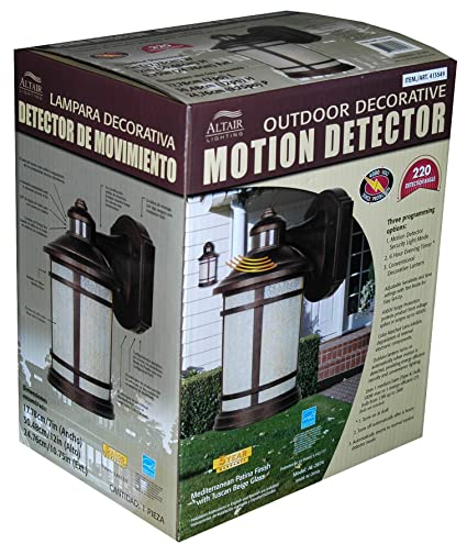 Altair Outdoor Decorative Motion Detector Light
