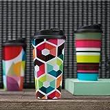 Tazza termica Remember, da viaggio, per treno, autobus e metropolitana, disponibile in vari colori., Hexagon, medium