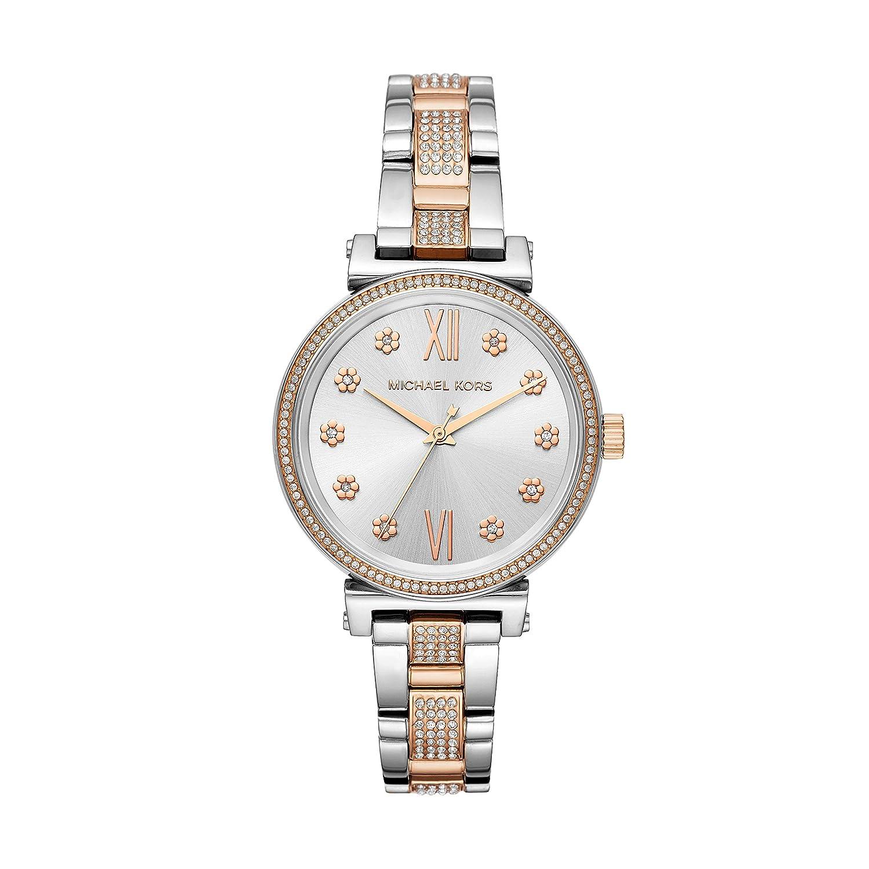 Amazon.com: Michael Kors Womens Sofie Quartz Stainless-Steel Strap, Silver, 14 Casual Watch (Model: MK3880: Michael Kors: Watches