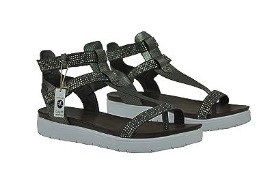 Bugatti Damen Sandale Schuh in Dunkelgrau oder Rosé