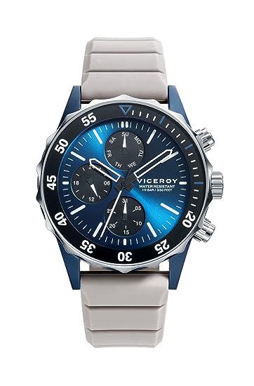 Viceroy Reloj Cronógrafo para Hombre de Cuarzo con Correa en Silicona 471159-37: Amazon.es: Relojes