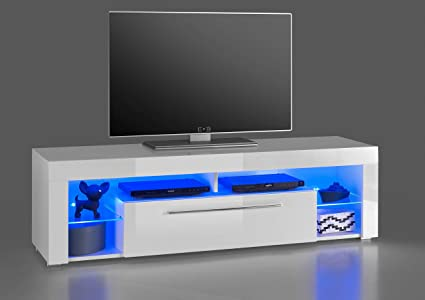 Mobile tv nero con illuminazione led keflavik 🏠 homelook