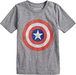 4140eb06a Jumping Beans Boys 4-10 Marvel Captain America Logo Graphic Tee