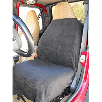 BLACK Car And Truck Towel Seat Cover Keeps Your Seats Clean Stay Comfy In Heat