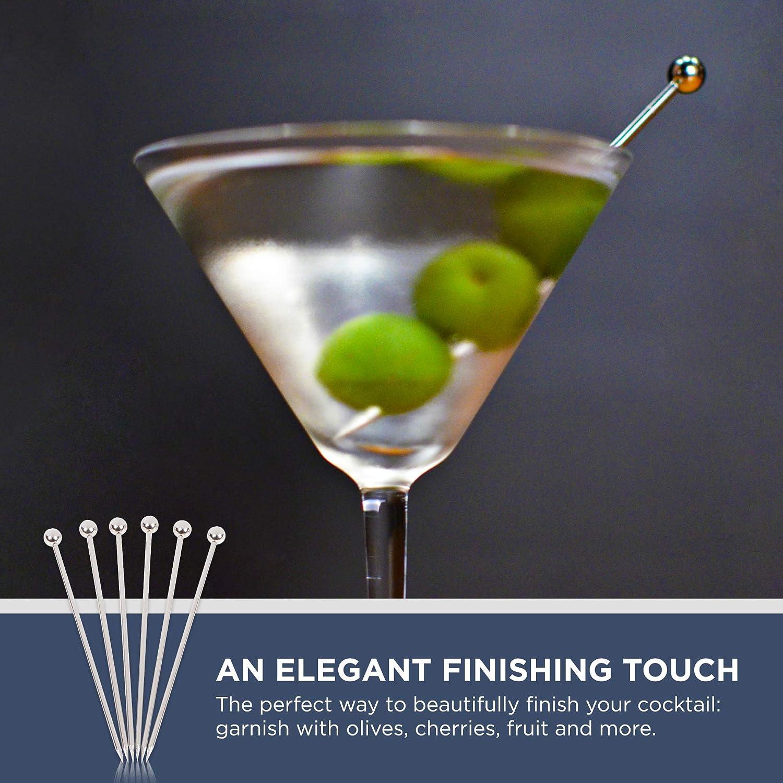 "Stainless Steel Cocktail Picks - 4\"" (12pc Set) 71oUZATBopL"