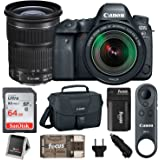 Canon EOS 6D Mark II w/ EF 24-105mm f/3.5-5.6 IS STM Lens & Canon BR-E1 Remote Control + 128GB, SLR Bag & Kit