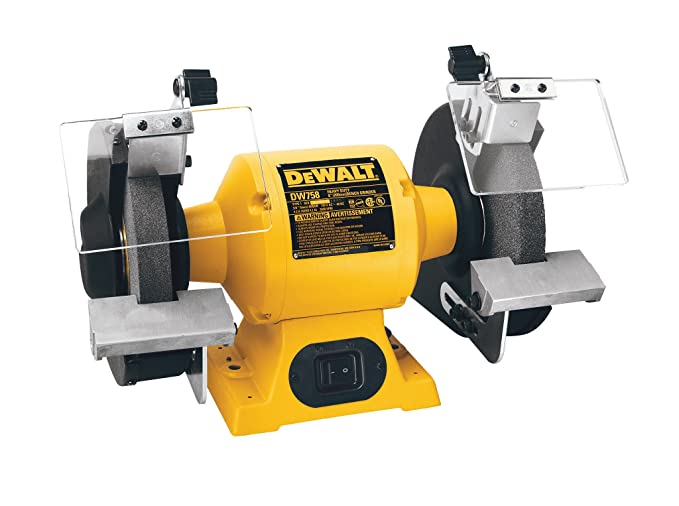 best bench grinder: DEWALT DW758 bench grinder - simply the best choice you can make