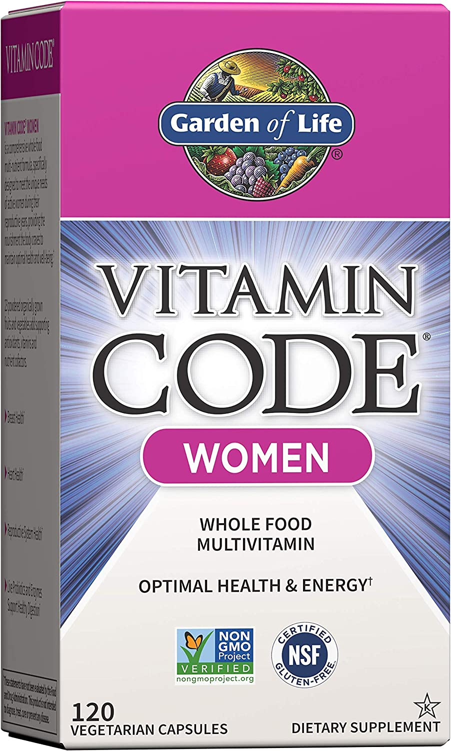 Garden of Life Multivitamin for Women, Vitamin Code Women's Multi - 120 Capsules, Whole Food Womens Multi, Vitamins, Iron, Folate not Folic Acid & Probiotics for Womens Energy, Vegetarian Supplements: Health & Personal Care