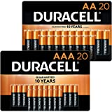 Duracell - CopperTop AA + AAA Alkaline Batteries Combo Pack, 20 Count Each - Long Lasting, All-Purpose Double A & Triple A Ba