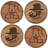 LazerEdge NCAA Wooden Coasters (Set of 4)