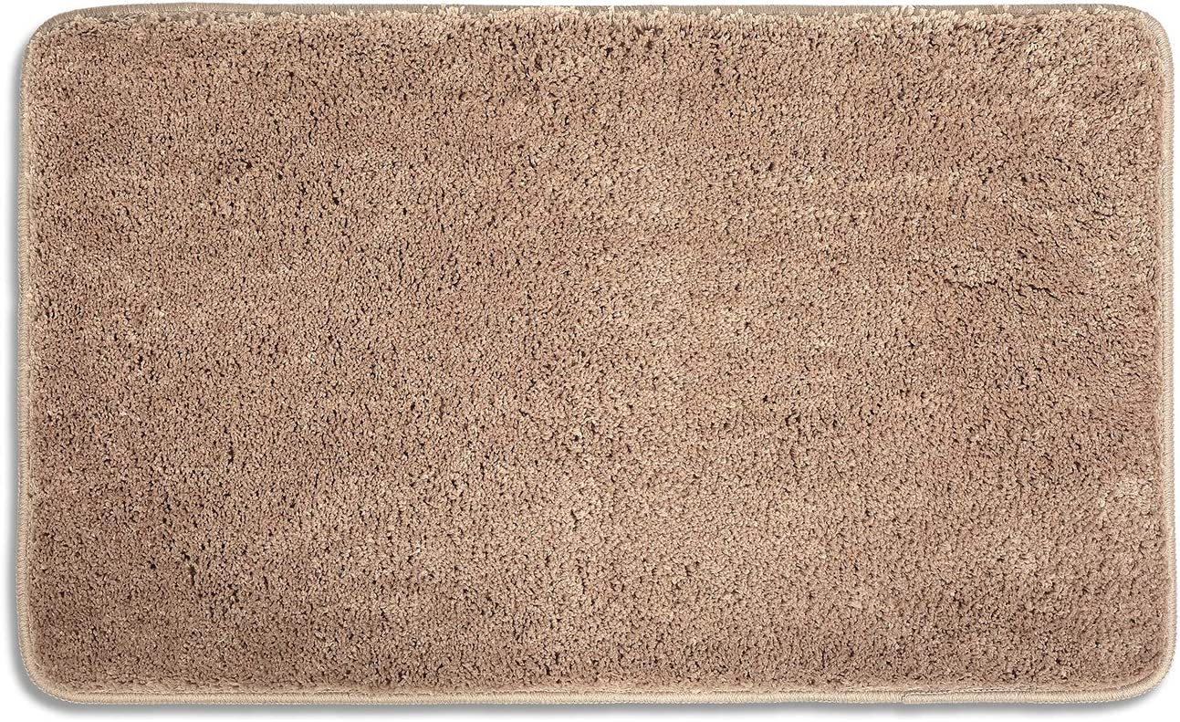 "Indoor Doormat Front Door Mat Non Slip Rubber Backing Super Absorbent Mud and Snow Magic Dirts Trapper Mats Entrance Door Rug Shoes Mat Machine Washable Carpet - Tan, 20""x 31.5"""