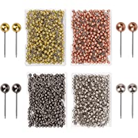 AIEX 1000 stuks kaartspijkerspelden, voor wereldkaart, kurkbord, stofmarkering, 1/8 inch metalen ronde kop met roestvrijstalen punt Push Pins