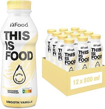 YFood Vanilla | Batido Sustitutivo | Sustitutivo de comida sin lactosa ni gluten | 33g de proteínas, 26 vitaminas y minerales | 25% de las calorías ...