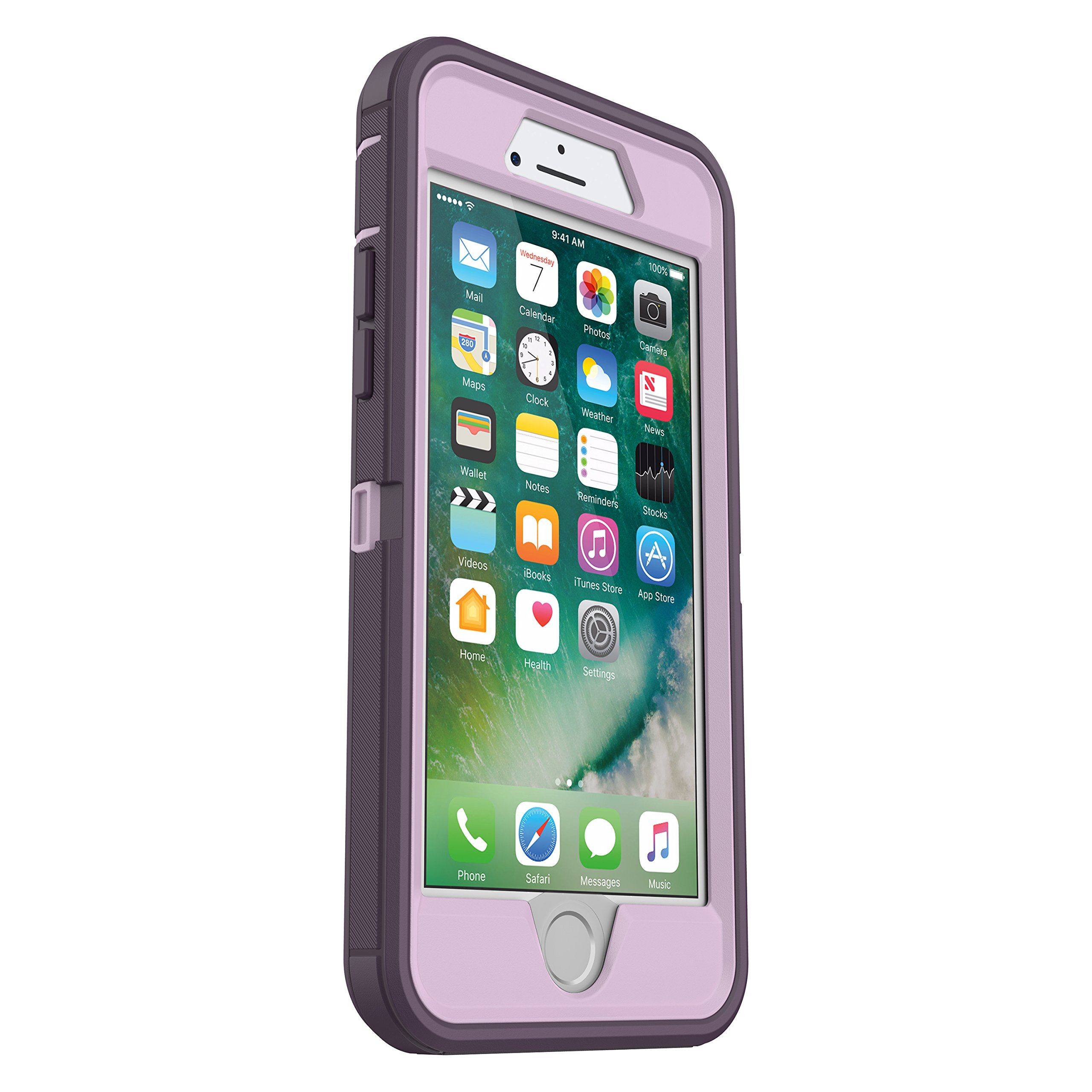OtterBox DEFENDER SERIES Case for iPhone 8 & iPhone 7 (NOT Plus) - Frustration Free Packaging - PURPLE NEBULA (WINSOME ORCHID/NIGHT PURPLE) by OtterBox (Image #3)