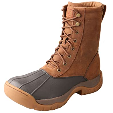 bad30ace67b1 Twisted X Men s 8 quot  Lace-Up Rubber Boot Round Toe Brown ...