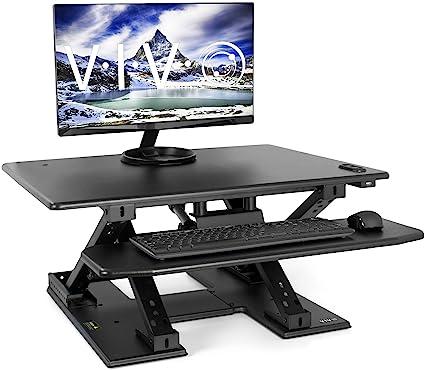 Vivo negro eléctrico altura ajustable dos niveles de pie de mesa ...