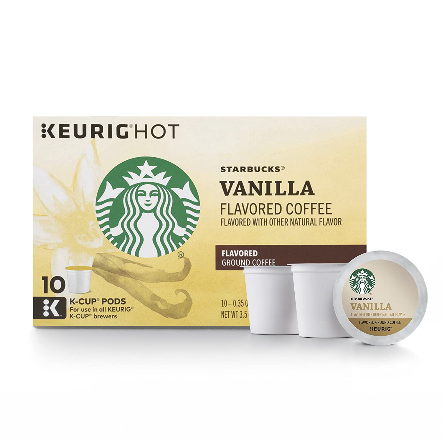 Starbucks Vanilla Flavored Light Roast Single Cup Coffee for Keurig Brewers, 10 Count ( Pack Of 6 )