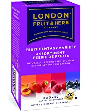 London Fruit & Herb fruit herbal teas Fruit Fantasy Variety Fruit Herbal Infusions Tea, 20 Count