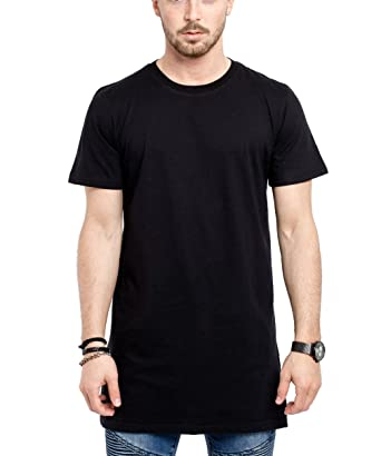 84ef6a061 Phoenix Oversized Longshirt Long Line Side Zip T-Shirt Men Longshirt -  Black - Medium: Amazon.co.uk: Clothing