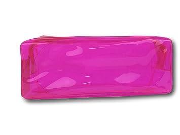Estuche Plástico Colores Neón (Rosa)