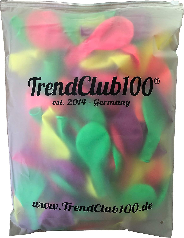 Rosa Naranja Verde Amarillo Violeta TrendClub100/® Globo 100 Globos Ne/ón Fluorescente