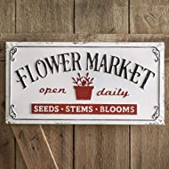 "CTW Home Collection ""Flower Market Metal Sign"