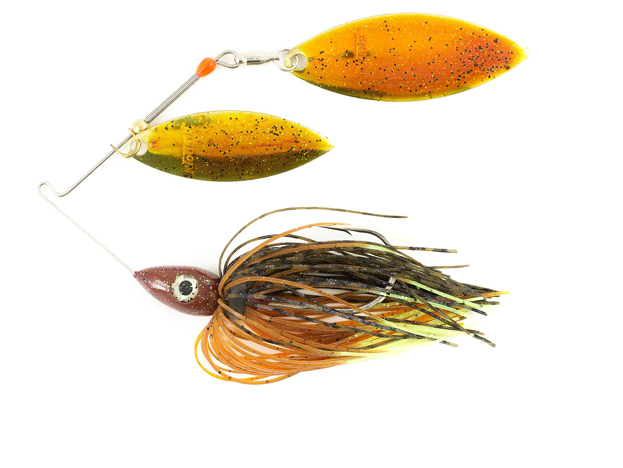 Nichols Lures Pulsator Metal Flake Double Willow Spinnerbait, Bluegill, 1/2-Ounce/.44-Magnum by Nichols Lures