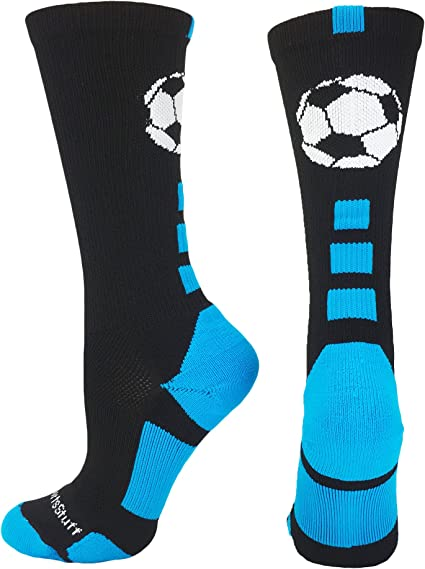 MadSportsStuff Crazy Volleyball Logo Over The Calf Socks Multiple Colors