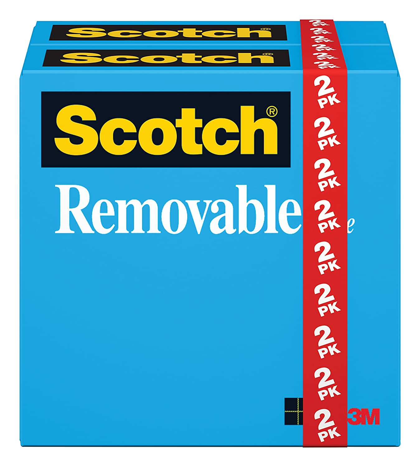 Scotch Removable Tape, Standard Width, Engineered for Displaying, Invisible, 3/4 x 1296 Inches, 2-Pack (811) 3M Office Products 811-2PK