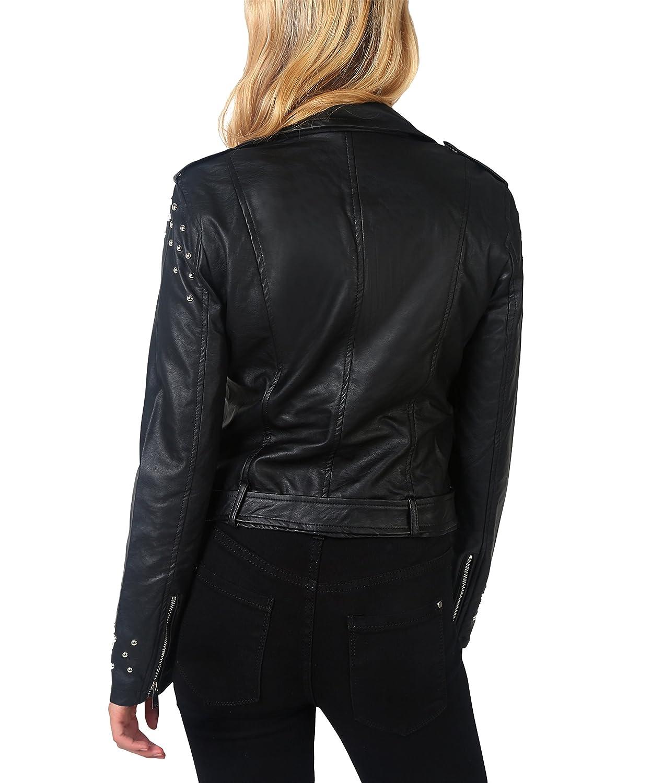 KRISP Womens Studded Faux Leather Biker Motorcycle Zipper Jacket at Amazon Womens Coats Shop