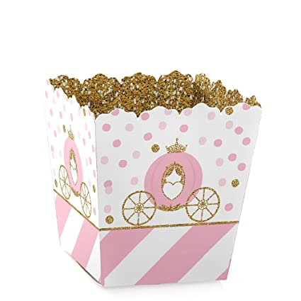 Little Princess Crown Party Mini Favor Boxes Pink And Gold Princess Baby Shower Or Birthday Party Treat Candy Boxes Set Of 12